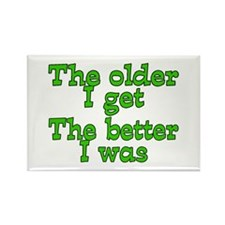 Funny Over the hill Rectangle Magnet (100 pack)
