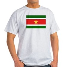 Suriname Flag Ash Grey T-Shirt