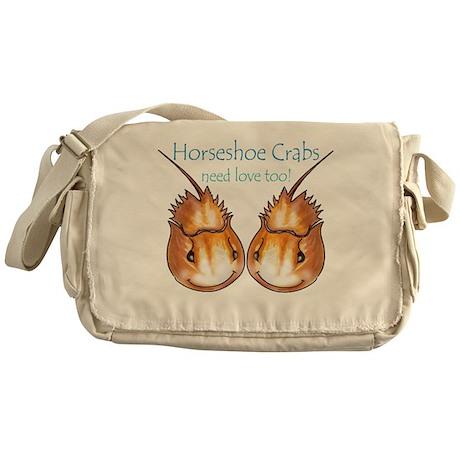 Horseshoe Crabs need love too Messenger Bag