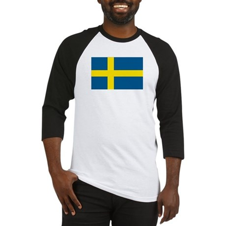 Swedish Flag Baseball Jersey