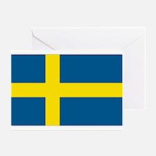 Swedish Flag Greeting Cards (Pk of 10)