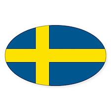 Swedish Flag Oval Decal