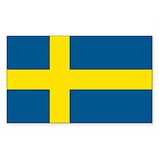 Swedish Flag Rectangle Decal