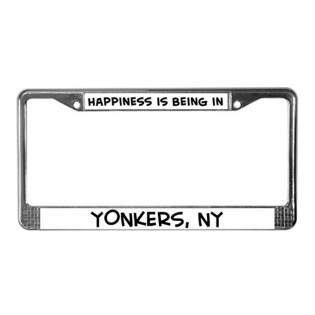 Happiness is Yonkers License Plate Frame