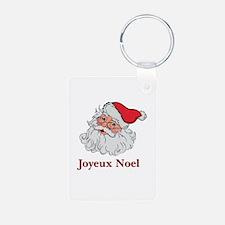 Santa Joyeux Noel Aluminum Photo Keychain