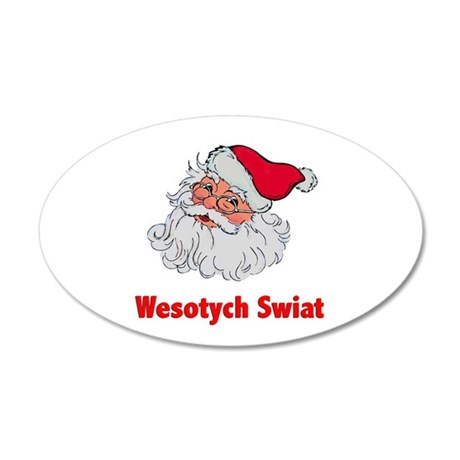 Polish Santa 38.5 x 24.5 Oval Wall Peel