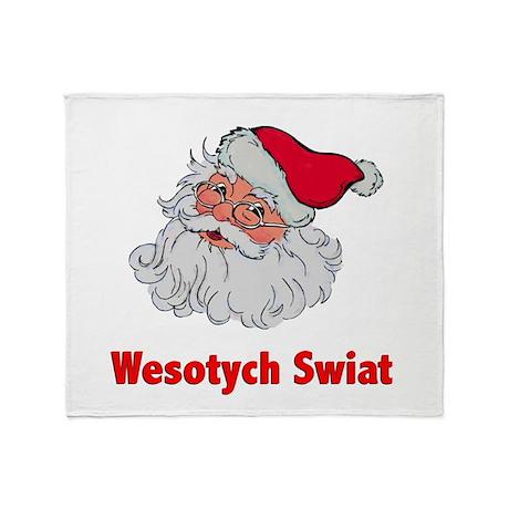 Polish Santa Throw Blanket