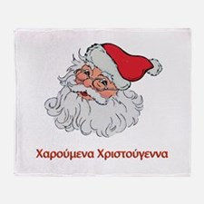 Greek Santa Throw Blanket