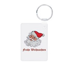 German Santa Aluminum Photo Keychain
