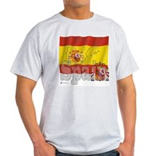 Silky Flag of Spain Ash Grey T-Shirt