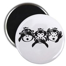 Three Monkeys Magnet
