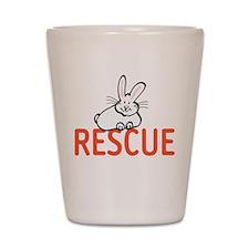 cute bunny RESCUE Shot Glass