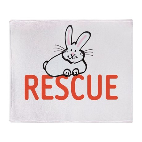 cute bunny RESCUE Throw Blanket