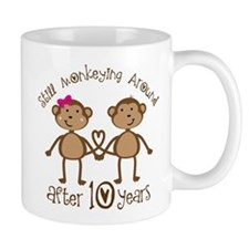 10th Anniversary Love Monkeys Small Mugs
