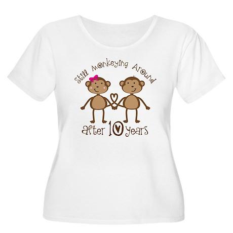 10th Anniversary Love Monkeys Women's Plus Size Sc