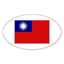 Taiwanese Flag Oval Decal
