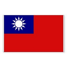 Taiwanese Flag Rectangle Decal