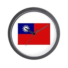 Taiwanese Flag Wall Clock
