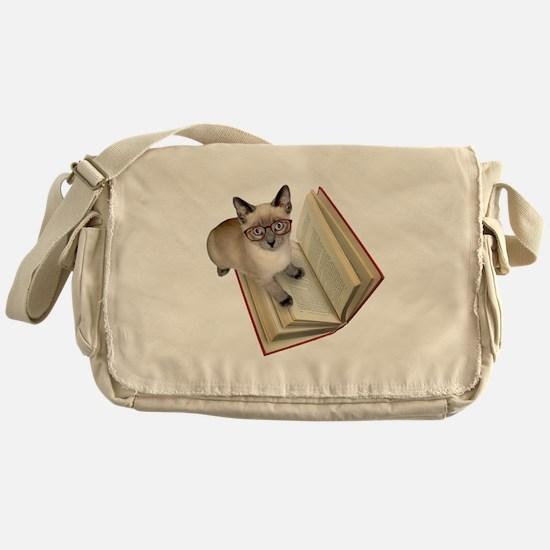 Kitten Book Messenger Bag
