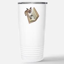 Kitten Book Travel Mug