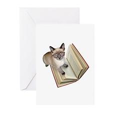Kitten Book Greeting Cards (Pk of 10)