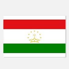 Tajikistan Flag Postcards (Package of 8)