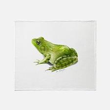 Bullfrog Throw Blanket
