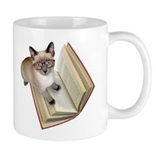 Kitten Book Small Mug