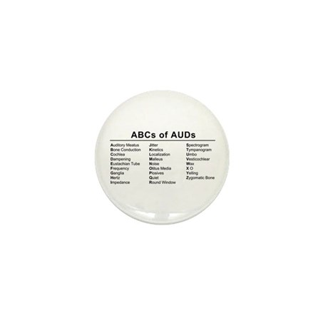 ABCs of AUDs Mini Button