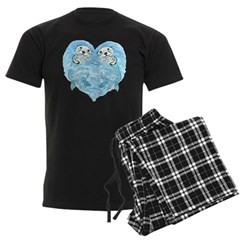 sea otters holding hands Pajamas