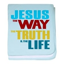 Jesus Way Truth Life baby blanket
