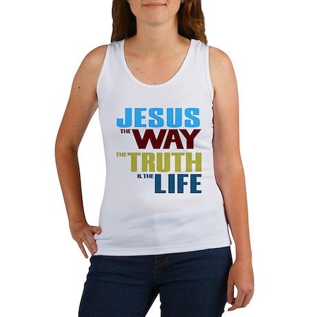 Jesus Way Truth Life Women's Tank Top