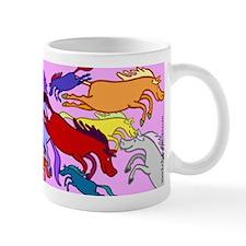 Colorful Jumping Ponies/Horses Mug