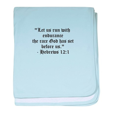 Let us run with endurance... baby blanket