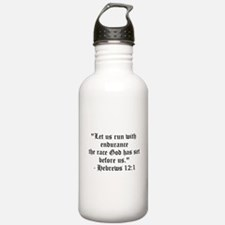 Let us run with endurance... Water Bottle