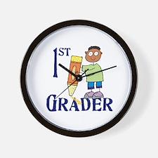 1st Grade Boy Wall Clock