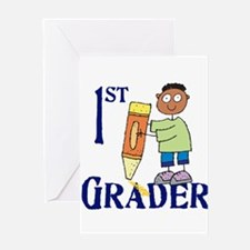 1st Grade Boy Greeting Card