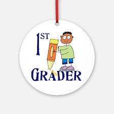 1st Grade Boy (round) Round Ornament