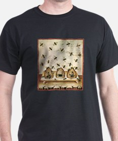 Medieval Bees in Skeps T-Shirt
