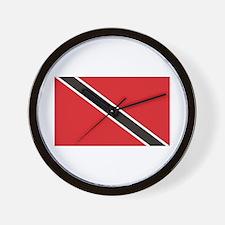 Trinidad & Tobago Flag Wall Clock