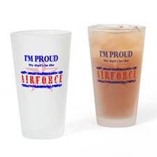 Air Force Proud Dad Drinking Glass