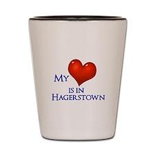 Heart in Hagerstown Shot Glass