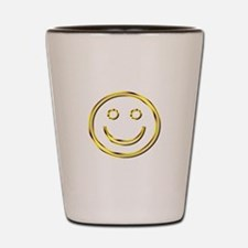 Gold Smiley Face Shot Glass
