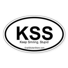 Keep Smiling Acronym Oval Decal