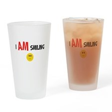 I AM Smiling Drinking Glass