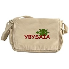 YBYSAIA with Green Turtle Messenger Bag