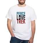 Peace Love Trek White T-Shirt