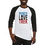 Peace Love Trek Baseball Jersey