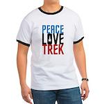 Peace Love Trek Ringer T