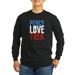 Peace Love Trek Long Sleeve Dark T-Shirt